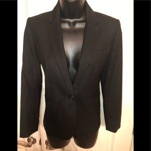 Jcrew 1035 super 120's black blazer size 4P